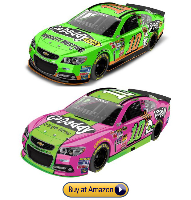 Danica Patrick Nascar Chevy Godaddy Car #10 Dark Green and Pink